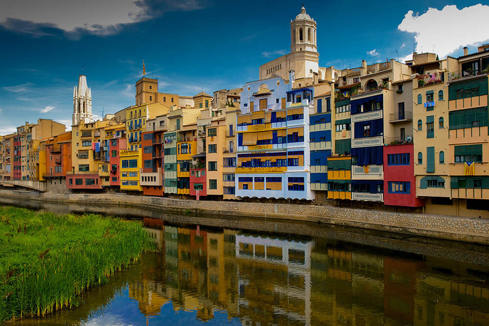 Girona Catalunya Onyar River